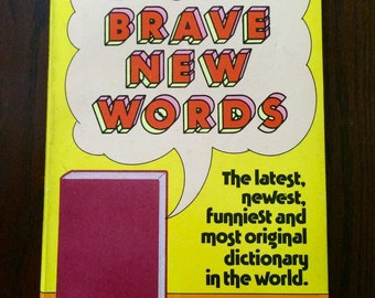 """Vintage 1980's silly dictionary • """"More Brave New Words"""" by Bill Sherk"""