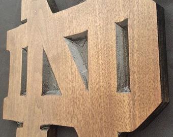 Custom 12'' Notre Dame Plaque