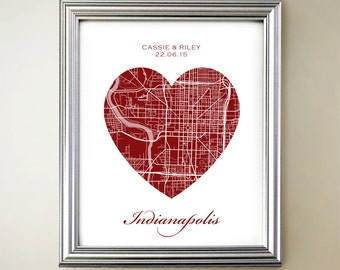 Indianapolis Heart Map