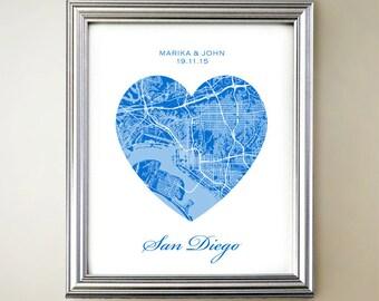 San Diego Heart Map