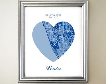 Venice Florida Heart Map