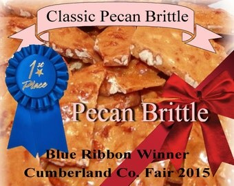 pecan brittle homemade candy gift basket teacher appreciation weddings birthdays party anniversary