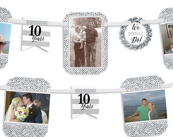 10th celebration etsy for 10th wedding anniversary decoration ideas