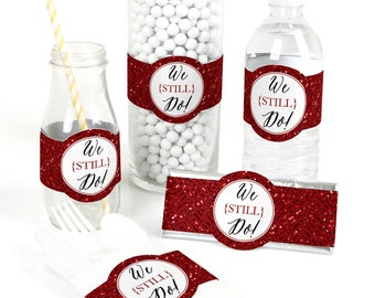 15 We Still Do - 40th Wedding Anniversary - Anniversary Party Favor Wrappers - Party Supplies