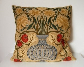 VINTAGE FRENCH CUSHION / Pillow case / Textile / Floral / France / Home decor / French fabric / Decorative pillow case / Cushion cover