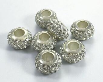 20  pcs  Large Hole  Rhinestone  Beads ,Rhinestone Beads  for European bracelet