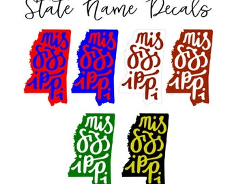 State Name Decal