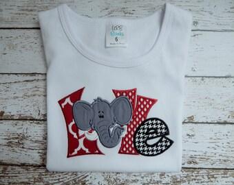 Girls UA football shirt, Girls Alabama football shirt, Girls Roll Tide shirt, Alabama game day shirt