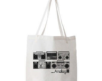 "Analog Series ""Boombox"" Tote Bag"