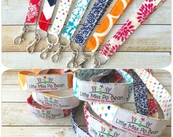 Fabric Lanyard, ID Badge Holder, Key Holder, Work Lanyard, Lanyard for Teacher, Gifts for Her