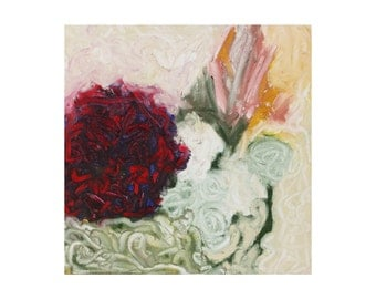 impressionist painting, original oil painting, abstract impressionist wall art - floral painting