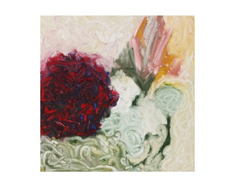 "impressionist painting, original floral oil painting,""Thinking On Things"", abstract impressionist art - floral wall art"