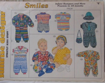 Sunrise Designs Strictly Kids Stuff Infant Rompers Preemie To 18 Months