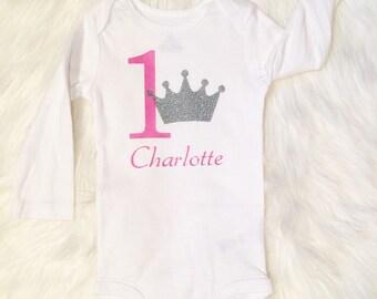 CUSTOM|| first birthday onesie || personalized ||
