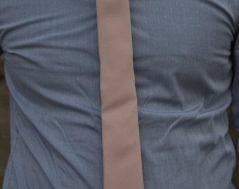 Light Blush Skinny Necktie