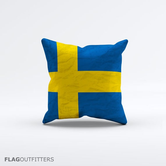 15 Inch Throw Pillow Covers : Flag of Sweden Throw Pillow Cover 15 x 15 inch