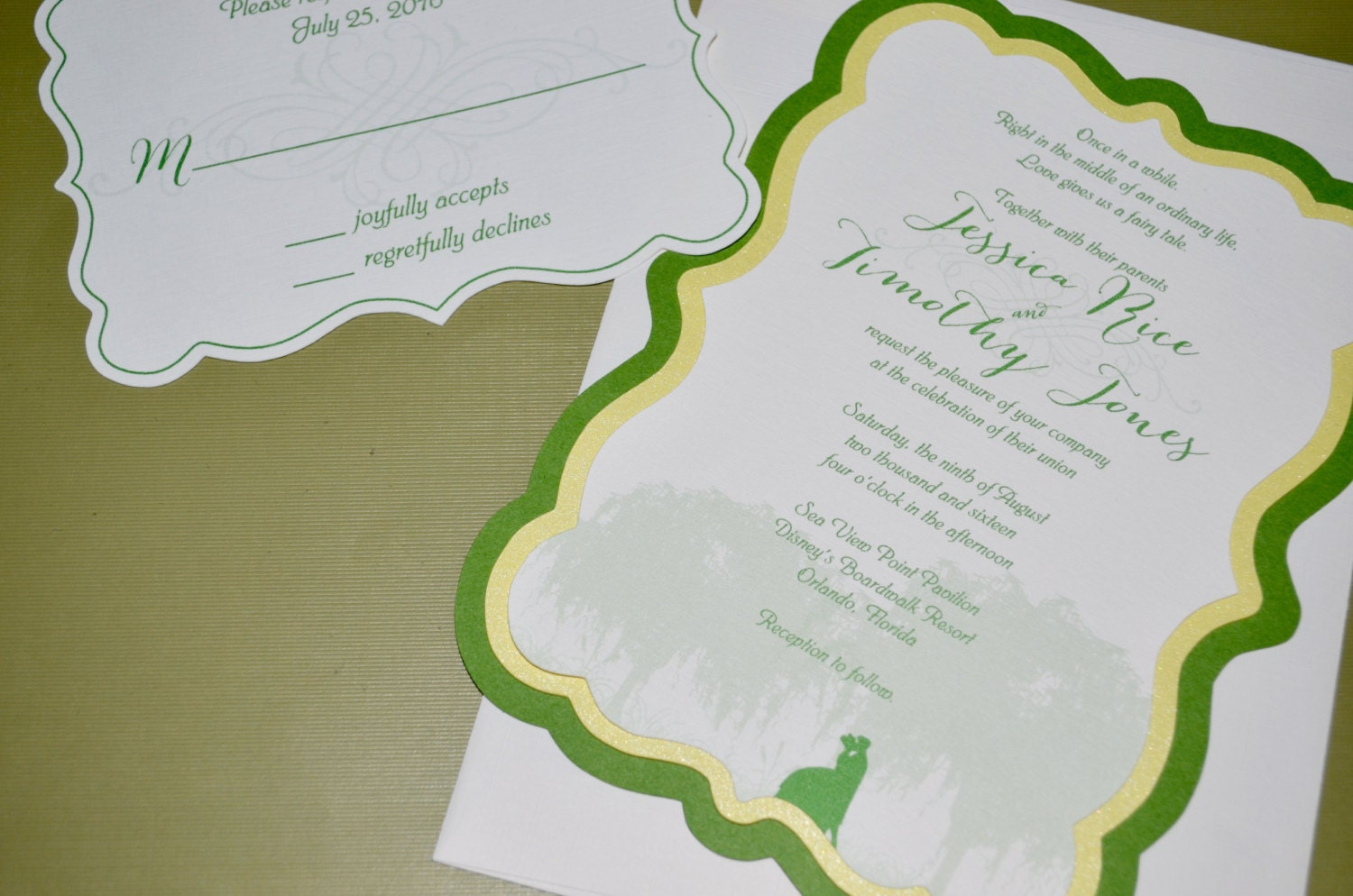 Frog Wedding Invitations: Fairy Tale Wedding Invitations Princess And The Frog