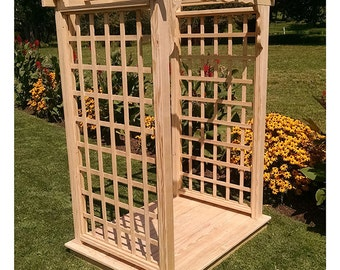 Pressure-Treated Pine Lexington 4ft. Garden Arbor With Deck