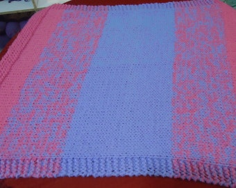 Handmade Baby Blanket in Pinks and Purples