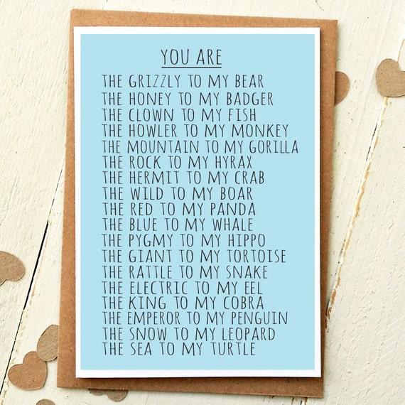 Funny valentine card valentines day love