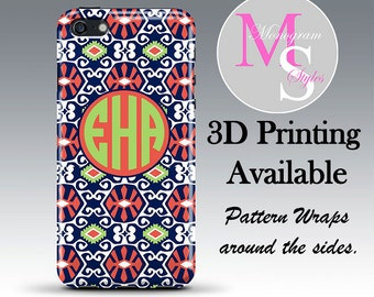 Monogram iPhone Case, Personalized Phone Case Sun Valley iPhone Monogrammed iPhone Case Iphone 4, 4S iPhone 5, 5C, 5S iPhone 6, 6 Plus #2307
