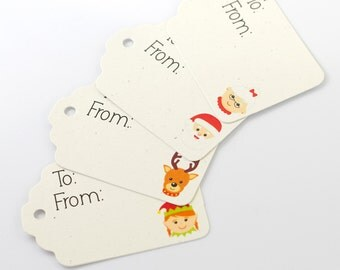 Christmas Tags, 24 Christmas Tags, Christmas Characters Gift Tags (ST-415)
