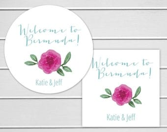 Welcome To Stickers, Wedding Welcome Sticker, Destination Wedding Stickers, Wedding labels (#257)