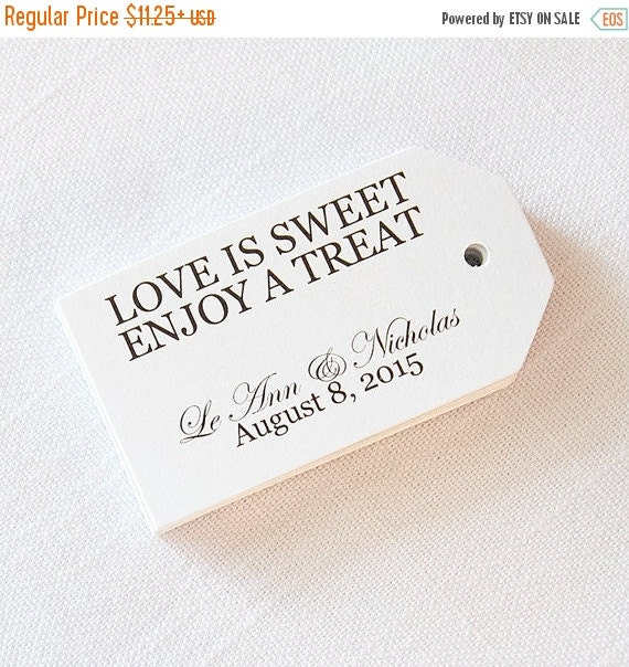 Wedding Gift Tags Singapore : Wedding Favor Tags, Love is Sweet Have a Treat, Custom Wedding Tags ...