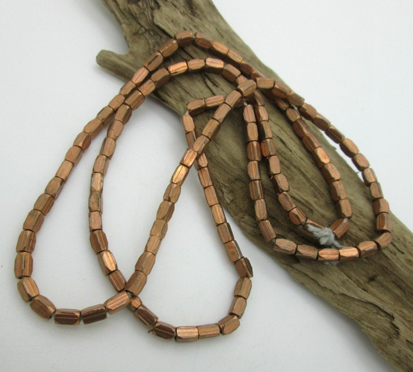 Copper squared tube spacer beads mm