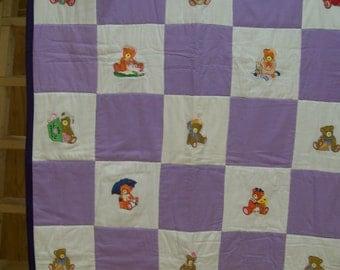 Teddy Bears Baby Quilt