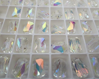 Swarovski Barrel Shaped Bead Crystal AB  12 x 8mm Art 5204 (6 beads)