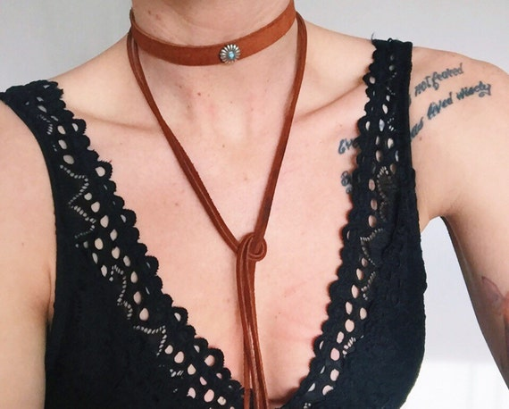The Round Up Suede Leather Wrap Necklace
