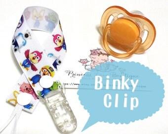 Pacifier Clip, Binky Clip * Pocoyo Pacifier Clip *