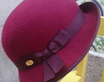 "The ""Charleston""- Cloche hat - 1920s slyle - Autumn / Winter - Bordeaux felt hat"