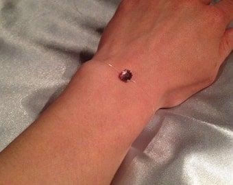 Rhinestone Christmas gift anniversary nylon thread bracelet