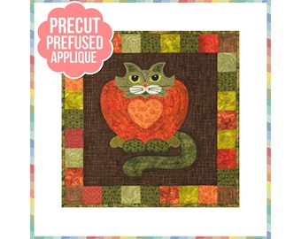 Purrsimmon - Laser Cut Pre Fused Applique Quilt Kit