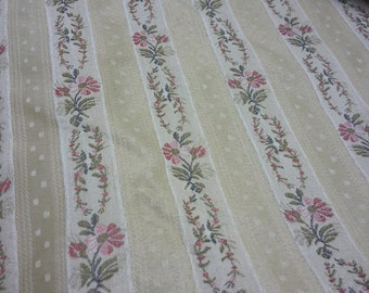 Medium Weight Cotton Chintz Blend Upholstery Fabric - BY THE YARD