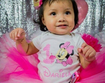 Baby Minnie Birthday Outfit