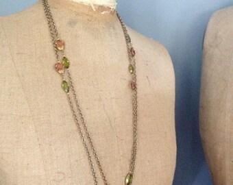 Vintage manufacturer jewelry sample necklace