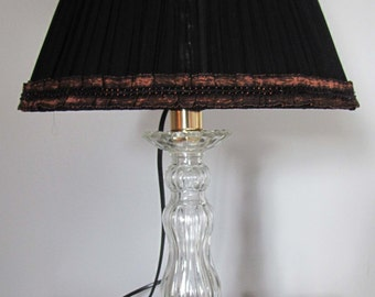 Silk organza Lampshade on lamp base Roger Gallet