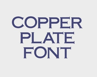 """Copper Plate Embroidery Machine Font in 3 sizes (0.5"""", 1"""" & 1.5"""") uppercase + numbers - INSTANT DOWNLOAD -  Item # 1092"""