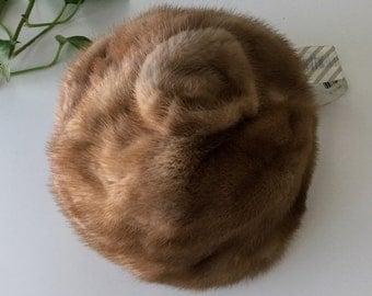 Vintage mink fur cap