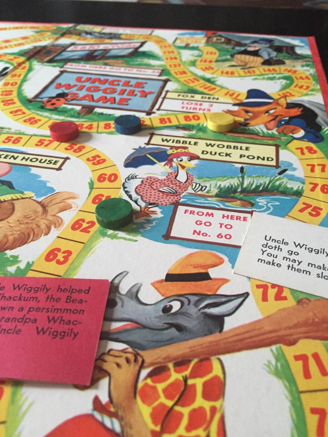 Vintage 1954 Uncle Wiggly Board Game Board Games Wiki