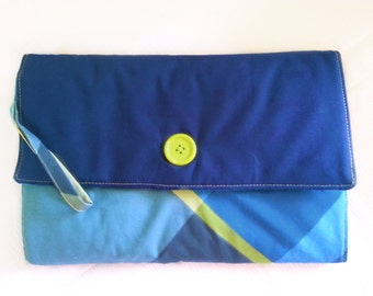 Blue Changing Pad Travel Clutch