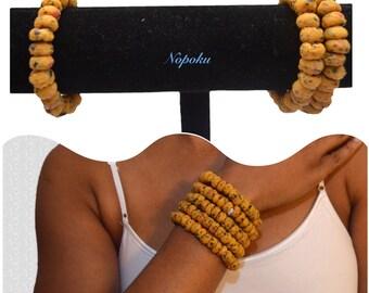 Mustard beaded bracelet