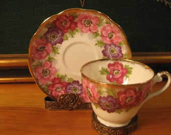 "SOLD! Royal Standard ""Carmen"" Tea cup & Saucer."