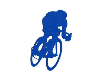 BUY 2, GET 1 FREE - Cycling Machine Embroidery Design - Bike Riding, Bike Racing, Cyclist - in 3 Sizes - 3 inch, 4 inch, 5 inch