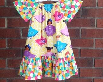 SALE, size 2T girls peasant dress, little girls dress, dresses little girls, girls dresses size 2T dresses