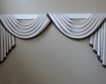 Ready to be shipped! Traditional swag and jabot valance