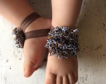 Barefoot sandals; baby barefoot sandals; cheetah sandal ; toddler barefoot sandal; sandal
